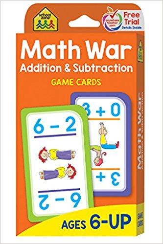 Math War game - fun ways to build math skills