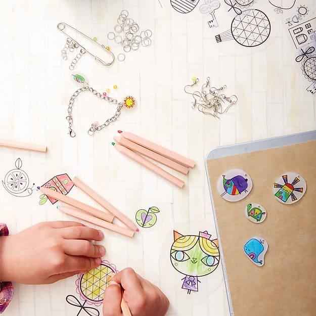 Gift Ideas for Crafty Girls - Shrinking Trinkets Kit