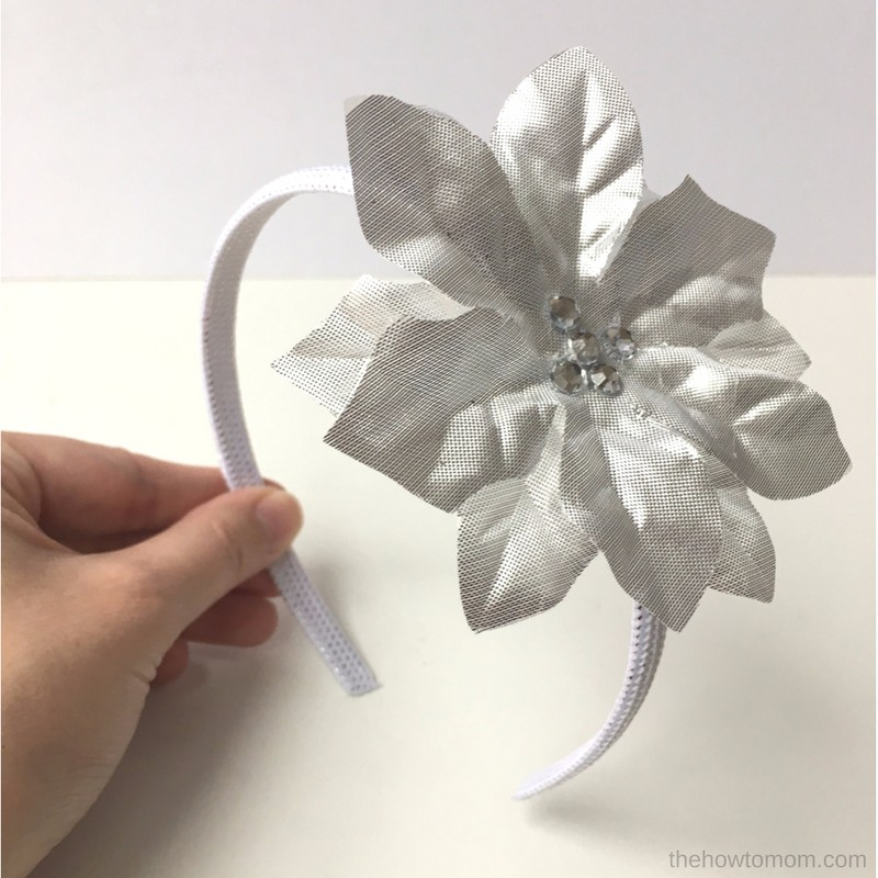 Poinsettia Headband - Dollar Tree Craft