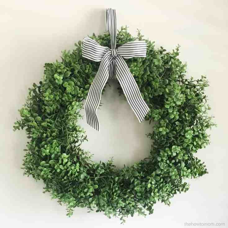 How to Make a Faux Boxwood Wreath - Simple!