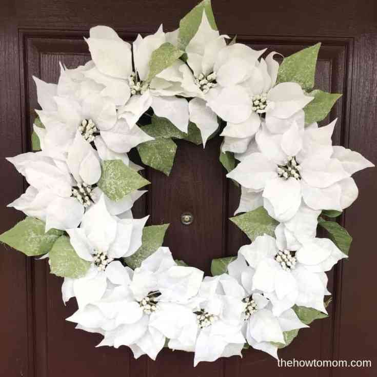 Snowy Poinsettia Wreath