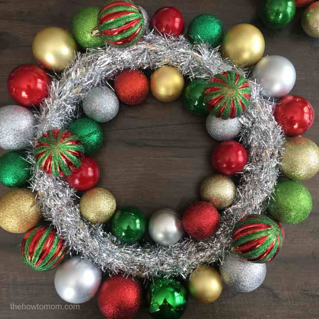 Christmas Ornament Wreath DIY