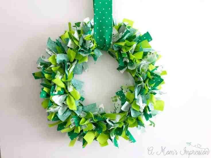 Cute Green Rag Wreath