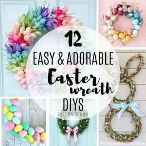 Easter Wreath Ideas – 12 Easy and Adorable DIYs