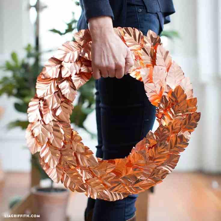 Copper Leaf Wreath