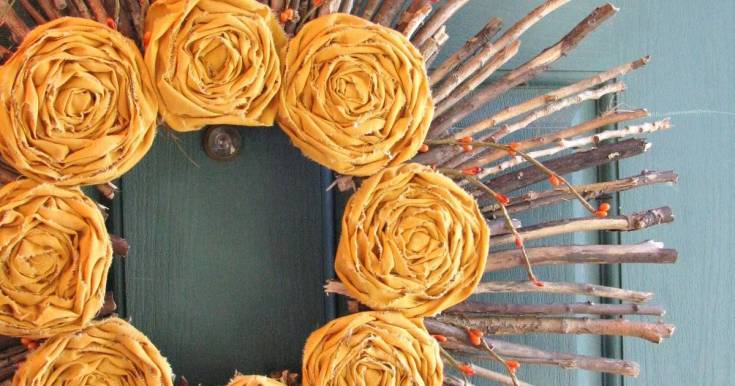 Rosette and Twig Wreath