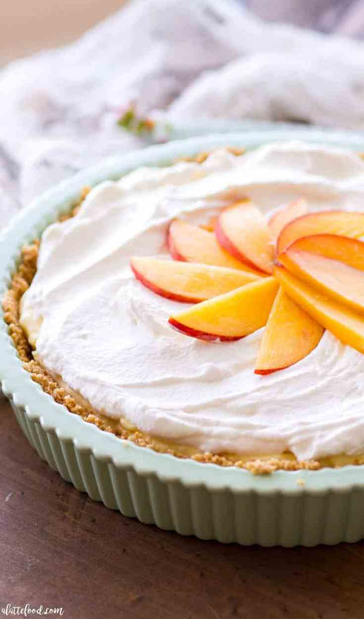 No Bake Peach Cream Pie