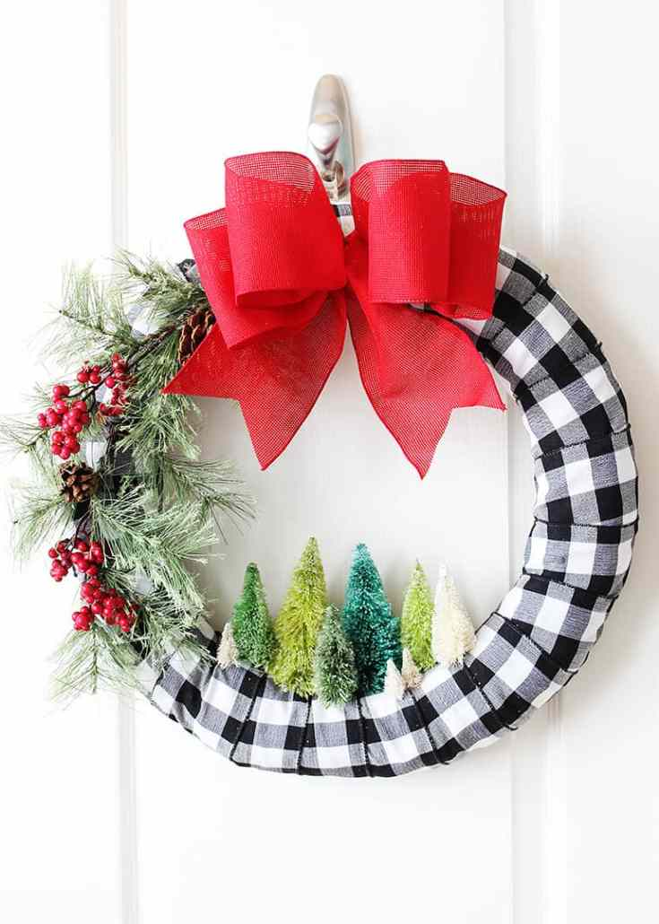Bottle Brush Tree Christmas Wreath