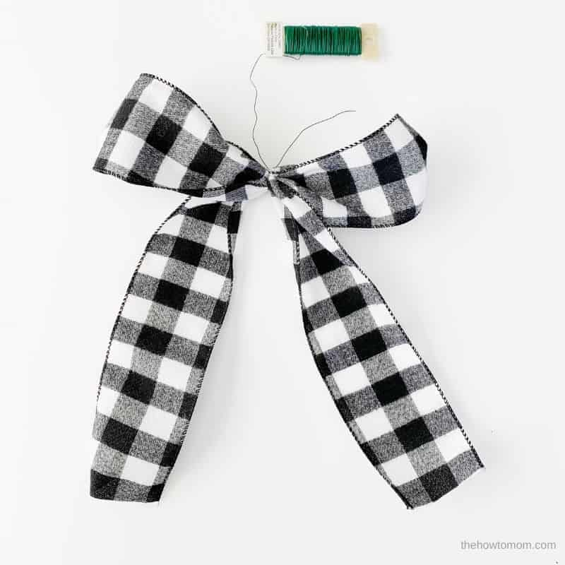 buffalo check bow for wreath