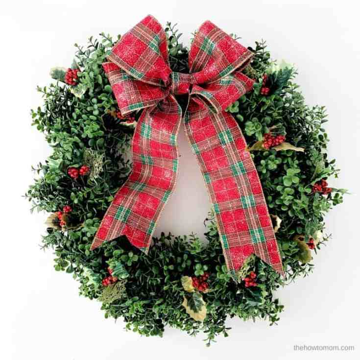 Boxwood and Holly Wreath