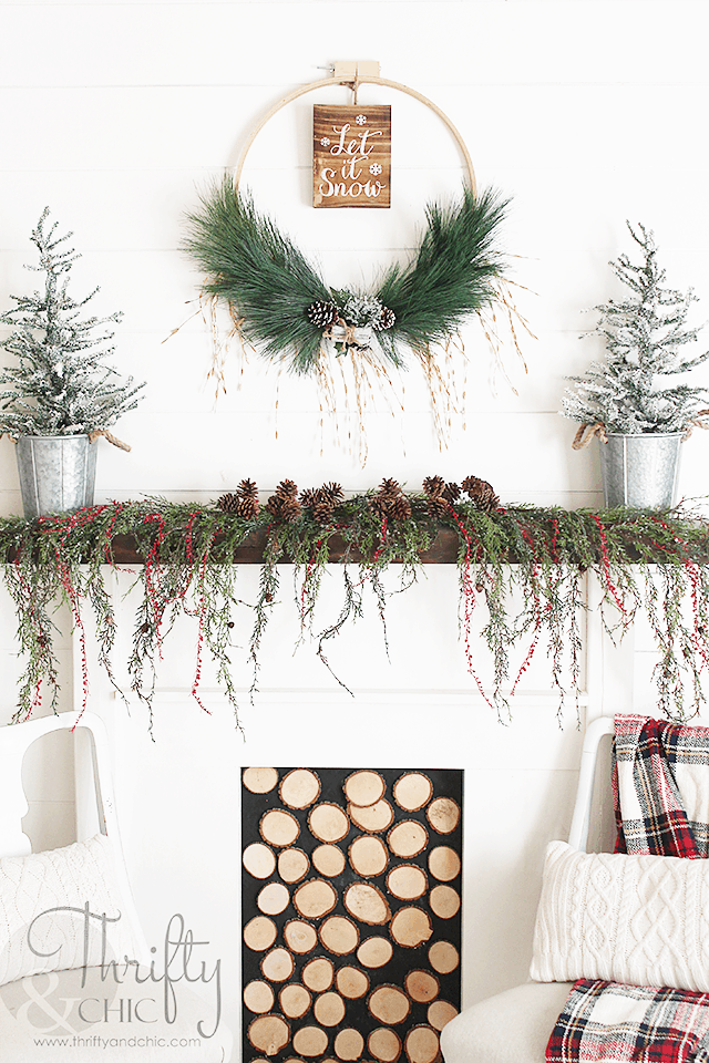 Woodland Christmas Hoop Wreath