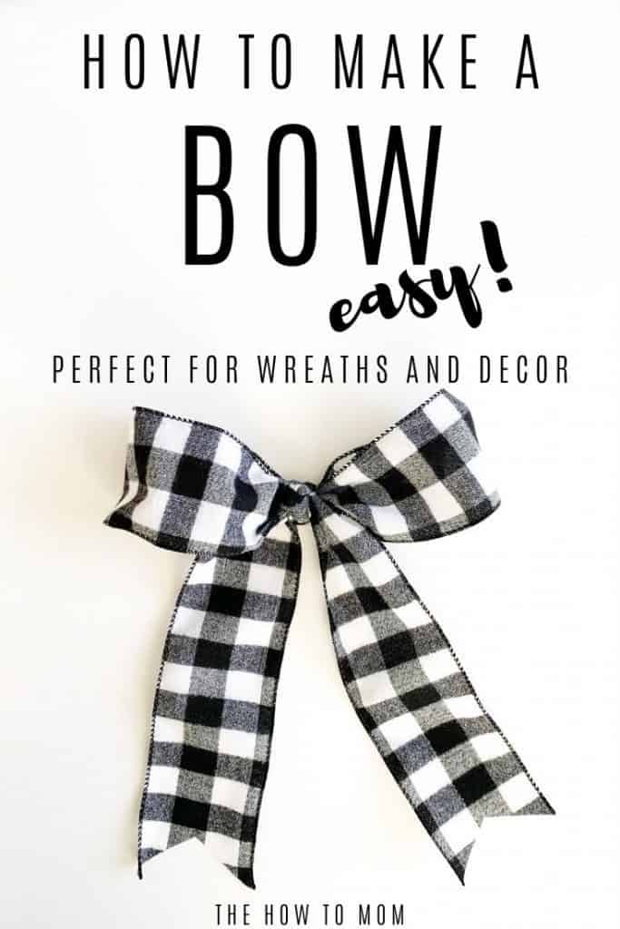 how to make a bow for a wreath - easy!