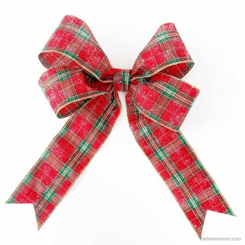 double loop christmas bow