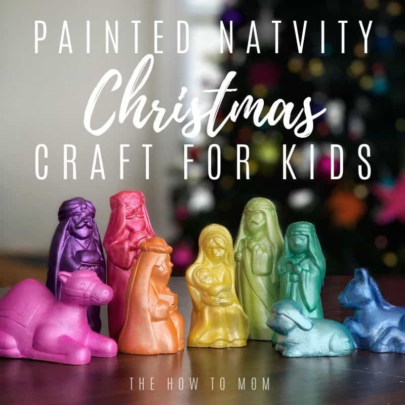 Painted Nativity Christmas Craft for Kids