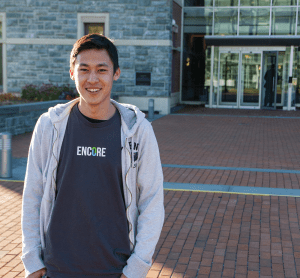 ALEXANDER BROWN/THE HOYA A SIMPLE CONCEPT Knowing that donors like seeing how their money is used, James Li (MSB '15) started Encore to help charities share their stories.