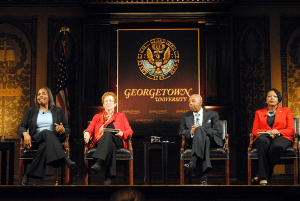 """The Georgetown University Press celebrated the 25th anniversary of the book and film documentary """"Black Georgetown Remembered"""" as part of Black History Month celebrations in Gaston Hall."""