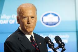 DANIEL SMITH / THE HOYA Vice President Joe Biden spoke Thursday at the White House's College Opportunity Day of Action.