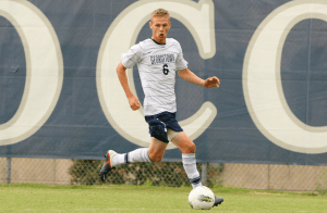 CHRIS BIEN/THE HOYA Junior Ian Christianson and the rest of the Georgetown midfield dominated their Penn State counterparts on Tuesday, but it didn't result in any goals, as the Hoyas settled for a scoreless draw.
