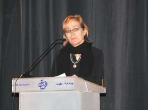 COURTESY NOREAN SHARPE MSB Senior Associate Dean for Undergraduate Programs Norean Sharpe discussed the MSB's new partnership with all-female Effat University located in Jeddah, Saudi Arabia, in December 2013.
