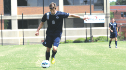 FILE PHOTO: CHRIS GRIVAS/THE HOYA Junior Steve Neumann had a more active game in the 1-0 win.