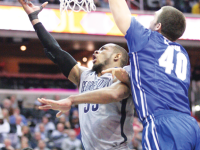 FILE PHOTO: cHRIS bIEN/THE HOYA Senior guard Jabril Trawick and the Hoyas will face Florida and Kansas.