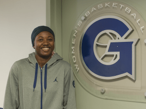 NATE MOULTON FOR THE HOYA Georgetown basketball player Ki-Ke Rafiu (COL '16) had been taking sports clothes home to Nigeria to encourage sports.