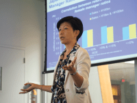 "JULIA HENNRIKUS/THE HOYA Goldman Sachs Chief Japan Equity Strategist Kathy Matsui gave a lecture on ""Womenomics,"" debunking a series of myths about women in the workplace in Japan and calling for equality."
