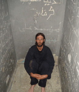"""MATTHEWVANDYKE.COM With his second documentary """"Point and Shoot,"""" Matthew VanDyke (GRD '04) confronts viewers with brutally honest footage from his travels across the Middle East and Libya, where he became a freedom fighter in the 2011 uprising and was imprisoned in a tiny cell for 6 months."""