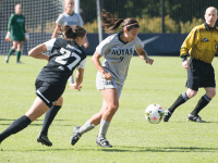 FILE PHOTO: NATE MOULTON FOR THE HOYA Junior forward Sarah Adams has two goals and an assist in 16 starts. She started in Georgetown's 1-0 win over Creighton last Sunday.