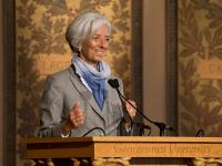 Lagarde's Speech Attracts Protesters