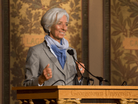 Lagarde's Speech Attracts Protesters