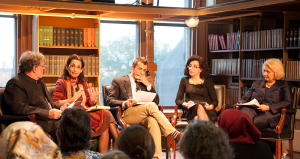 VALERIA BALZA FOR THE HOYA A panel discussed Islam, gender equality and democracy on Thursday.