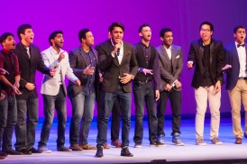 MICHELLE XU/THE HOYA Chai-Town, an all male South Asian a cappella group from the University of Illinois, travelled to the Kennedy Center Stage to perform a mix of South Asian and American songs.