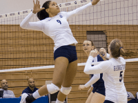 Senior middle blocker Dani White notched 10 kills against Villanova, bringing  her college career total to 1,093 kills.