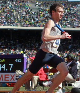 FLICKR Graduate student Billy Ledder is pictured competing at the Penn Relays Carnival during his freshman year. Ledder earned the Big East track athlete of the week honor after finishing in first place in the 800m event at the Penn State Nittany Lion Challenge last weekend.