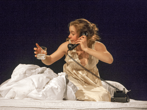 FILE PHOTO SOPHIE FAABORG-ANDERSEN/THE HOYA An actress performs in a Nomadic Theatre play.