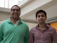 DANIEL SMITH/THE HOYA Left, Aakash Bhatia (MSB '16) and Andrew Nader (COL '16) are co-Presidents of the Georgetown University Real Estate Club.