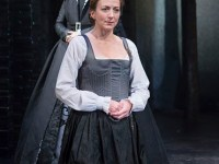 COURTESY FOLGER SHAKESPEARE LIBRARY 	  Kate Eastwood Norris (Mary Stuart) and Holly Twyford (Queen Elizabeth) are pitted against one another in this turbulent drama, set in 16th century Europe.