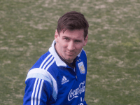 FILE PHOTO: CLAIRE SOISSON/THE HOYA Argentina captain and FC Barcelona star forward Lionel Messi drew supporters of all ages to Georgetown last week, where the Argentinian national team prepared for a friendly.