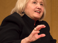 FILE PHOTO: SOFIA LAYANTO/THE HOYA Director of the Georgetown Institute for Women, Peace and Security Melanne Verveer spoke at the 2014 OWN IT Summit.