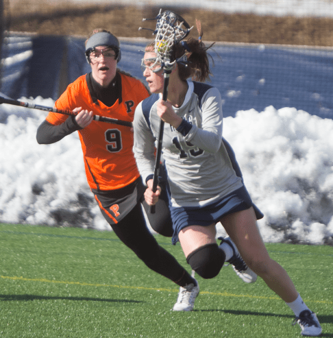 STANLEY DAI/THE HOYA Senior attack Caroline Tarzian led Georgetown with three goals in the team's loss to Princeton. Tarzian is tied for the team lead in goals.
