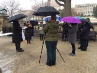 COURTESY DARA BALDWIN Activists organized a vigil on Capitol Hill Sunday to commemorate the murders of people with disabilities.