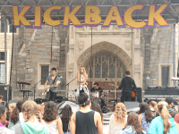 "FILE PHOTO: ISABEL BINAMIRA/THE HOYA Louisa Wendorff, most well-known for her cover of Taylor Swift's ""Blank Space,"" performs on Copley Lawn at the second annual Kickback Music and Arts Festival, hosted by the Students of Georgetown, Inc. Sept. 12."