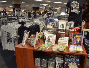 """KARL ALEYJA FOR THE HOYA The Georgetown University Bookstore launched a new line of Star Wars-branded merchandise Sept. 16. The new product line coincides with the upcoming release of """"Star Wars: Episode VII - The Force Awakens."""""""