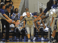 FILE PHOTO: DAN GANNON/THE HOYA Senior guard Katie McCormick led Georgetown with 53 three-pointers made last year.