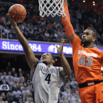 FILE PHOTO: CHRIS BIEN/THE HOYA D'Vauntes Smith-Rivera scored 15 points against Syracuse on March 9, 2013.