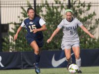 FILE PHOTO: JULIA HENNRIKUS/THE HOYA Senior forward Crystal Thomas scored her sixth goal of the season in the Hoyas' win over Creighton. Thomas was named Big East Offensive Player of the Week.