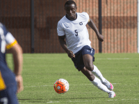 FILE PHOTO: NAAZ MODAN/THE HOYA Junior defender Joshua Yaro was named the Big East Defensive Player of the Year for the second consecutive year. Georgetown was eliminated from the NCAA tournament Sunday by Boston College.