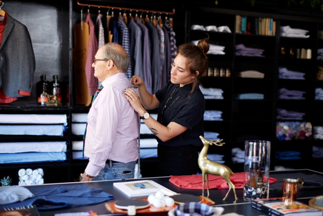 COURTESY ELISABETH EDELMAN Richmond-based men's retailer will sell its made-to-measure and ready-to-wear shirts at its new Georgetown location in Cady's Alley late this spring.