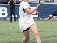 FILE PHOTO: CLAIRE SOISSON/THE HOYA Senior midfielder Kristen Bandos scored a hat trick in Georgetown's 18-8 loss to No. 1 Maryland on Saturday. She also picked up one ground ball.